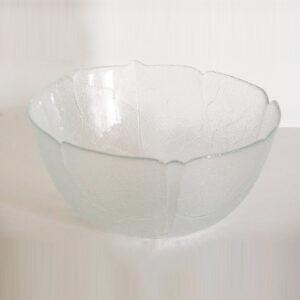 "Glass salad bowl (12"" ) flower"