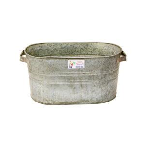 Galvanised steel tub