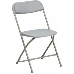 Grey foling chair