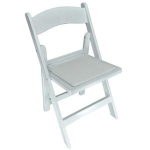 Folding Martha Chair - WHITE