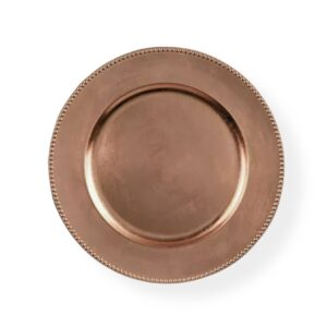 Charger plate beaded - ROSE GOLD/BLUSH