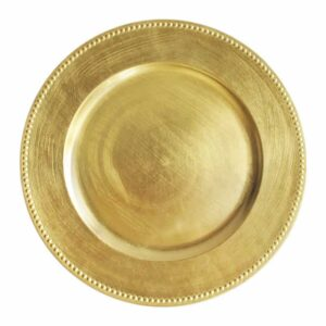 Charger plate beaded - GOLD