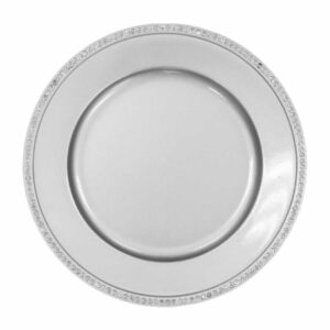 Charger plate bling- SILVER