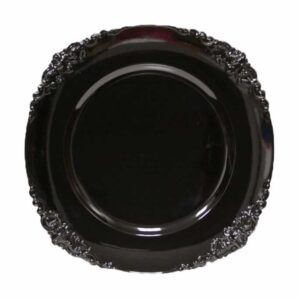Charger plate Baroque - BLACK
