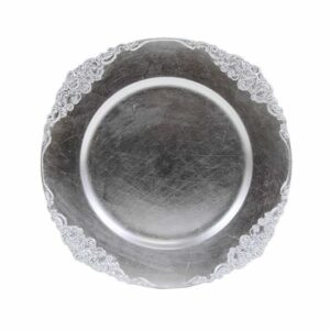 Charger plate Baroque - SILVER