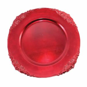 Charger plate Baroque - RED