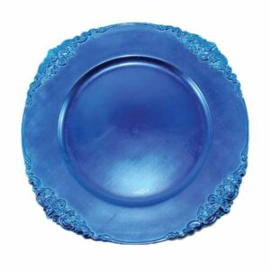 Charger plate Baroque - ROYAL BLUE
