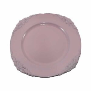 Charger plate Baroque - BLUSH PINK
