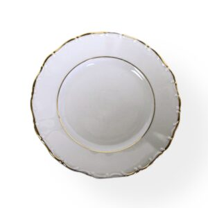 """Main course plate (10 ½"""") Gold BELLCREST"""
