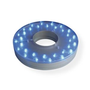 """LED light 8"""" round with Hole MULTICOLOR"""
