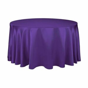 "Tablecloth round 108"" Satin - PURPLE"