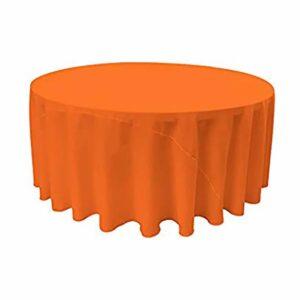 "Tablecloth round 120"" Polyester - ORANGE"