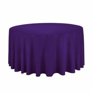 """Tablecloth round 120"""" Polyester - PURPLE"""