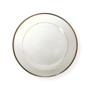 """Main course plate (10 ½"""") Gold DUCHESSE"""