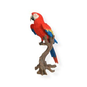 Artificial Parrot Statue - RED