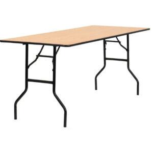 Rectangular table 6' Wood