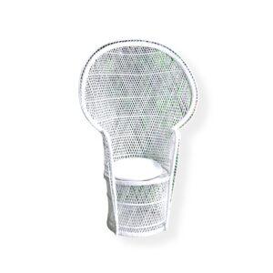 Shower Chair Wicker WHITE BOHO