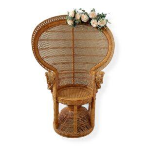 Shower Chair Wicker NATURAL BOHO